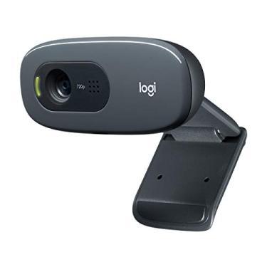 Imagem de Webcam Logitech C270 para desktop ou laptop, HD 720p widescreen para chamadas de vídeo e gravação