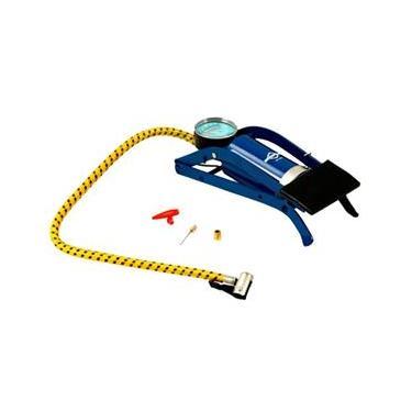 Bomba de Ar Pedal Azul Com 3 Adapatadores 44861 Brasfort
