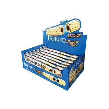 Chocolate Com Wafer Trento Massimo Branco Com Cookies C/16 - Peccin