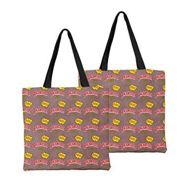 Bolsa de ombro feminina de alta capacidade, bolsa de ombro de lona, bolsa para laptop, moda urbana combinando, Macio, 19, One_Size
