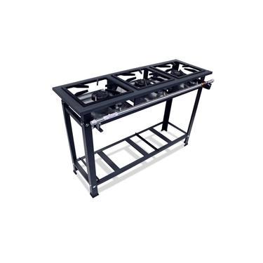 Fogão Industrial 3 Bocas 30x30 Alta Pressão P5 Compact - MetalFour