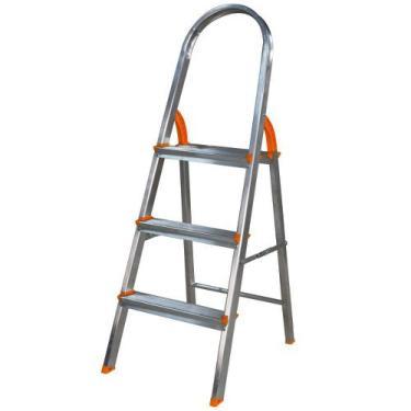 Escada de alumínio 4 degraus residencial - EDS004 - Agata