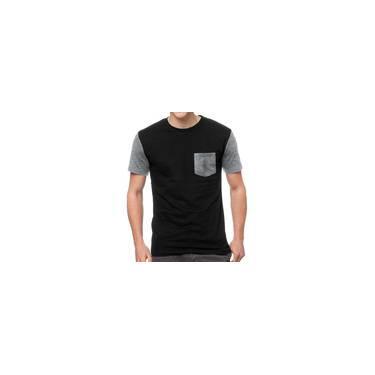 Camiseta Masculina Chess Clothing Bolso Mescla Cinza Claro 5f733fa8fb4eb