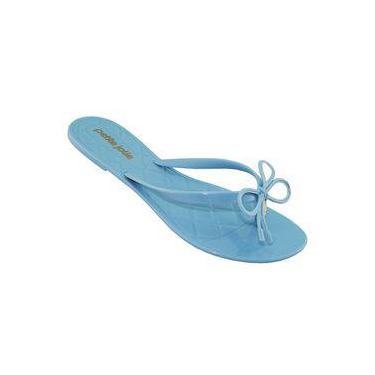 Chinelo Petite Jolie Feminino Express Verniz Soft Blue Pj2272