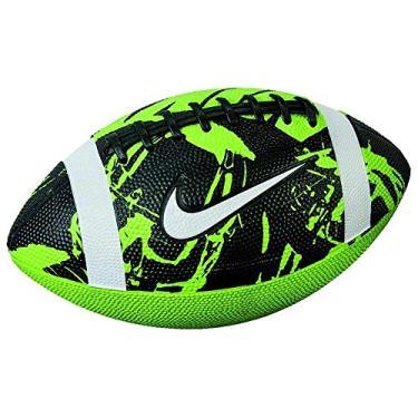 Bola Nike Futebol Americano Spin 3.0 - verde/preto/branco