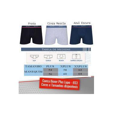 Cueca Tamanhos Plus Boxer Size Box Lupo Algodão 0653 Promoção