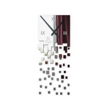Relógio Parede Espelho Acrílico Abstrato Sala Quarto