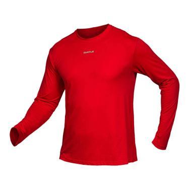 Camiseta Active Fresh Ml - Masculino Curtlo M Vermelho