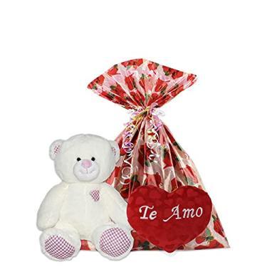 Imagem de Presentes Dia dos Namorados Kit Urso e Coração de Pelúcia (Kit 1)