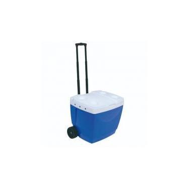 Caixa Térmica 42 Litros com Rodas e Alça Azul MOR -