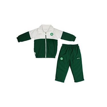 Conjunto calça e blusa com zíper Palmeiras, Rêve D'or Sport, Bebê Unissex, Branco/Verde, P