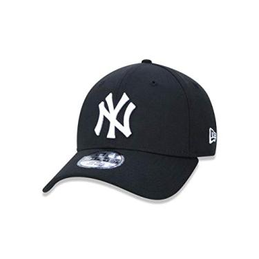 BONE 3930 NEW YORK YANKEES MLB ABA CURVA PRETO NEW ERA fc598fabd05