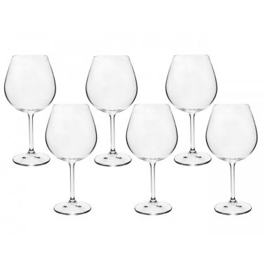 Jogo 6 Taças De Vinho Bordeaux Gastro 650Ml Cristal Bohemia