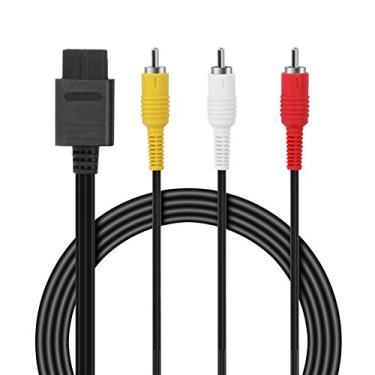 Cabo composto AV – Cabo de áudio retrô de 2,4 m N64 AV de cabo padrão de vídeo de TV para Nintendo 64 jogos de TV HDTV SNES Gamecube GC da FENGWANGLI, 1