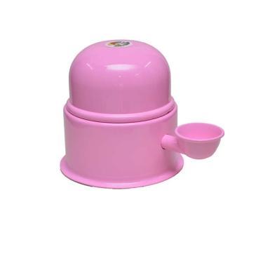 Bebedouro Vida Mansa Alumínio Rosa para Raças Pequenas - 1,4 L