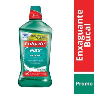 Enxaguante Bucal Colgate Plax Fresh Mint Leve 1L Pague 700ml