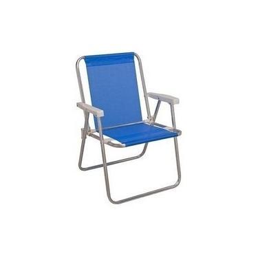 Cadeira De Praia Alta Alumínio Sannet Mor Cores Sortidas