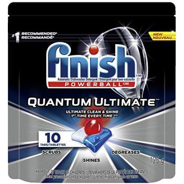 Detergente para Lava Louças em tabletes Finish Quantum Ultimate com 10 unidades, Finish, Preto