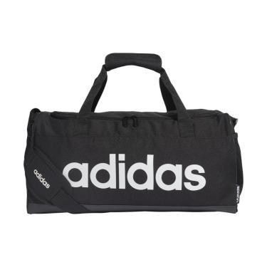 Mala Adidas Linear Duffel FL3693, Cor: Preto/Branco, Tamanho: U
