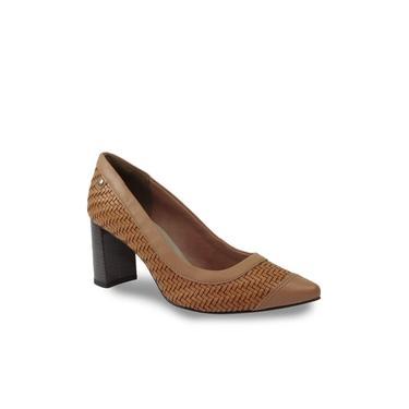 Sapato Scarpin Tanara T3185 Salto Grosso Tramado Feminino