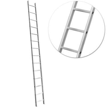 Escada Paralela Alumínio 14 Degraus 150 Kg Vonder com Sapatas Antiderrapantes