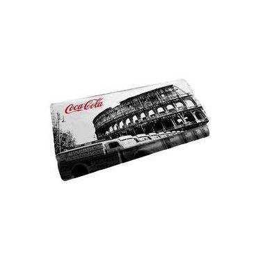 Carteira Coca Cola Roma Branco/Preto 25056