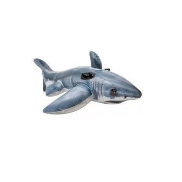 Boia Tubarão Cinza Intex 1,73M X 1,07M