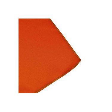Imagem de Toalha De Mesa Cobre Mancha Quadrado Em Tecido Laranja 0,75m