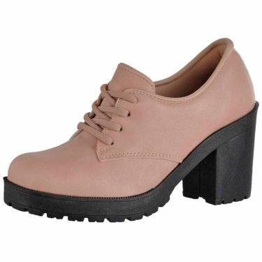 Bota Cano Curto em Couro DR Shoes Nude  feminino