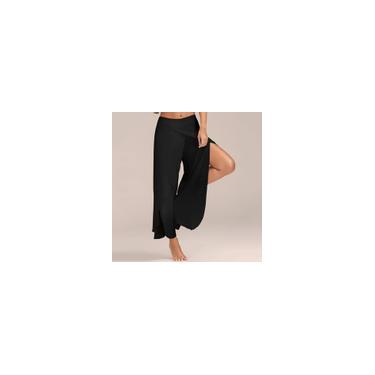Calças Europeia e verão americanas cruz perna larga Yoga Pants Calças H94 longas