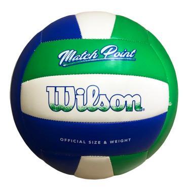 Bola De Volei Wilson Match Point Azul E Verde