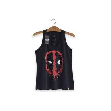 a78b5960f1 Camiseta Regata Deadpool Mask - Preta - Oficial Marvel