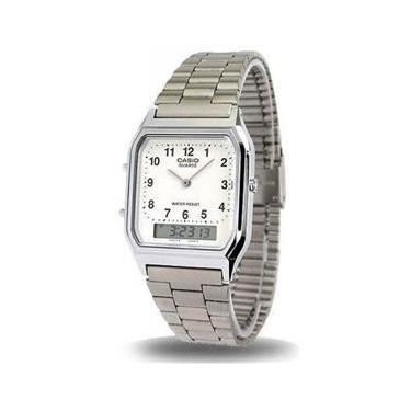 e2d361c60e5 Relógio Feminino CASIO Analógico Digital Social AQ-230A-7BMQ