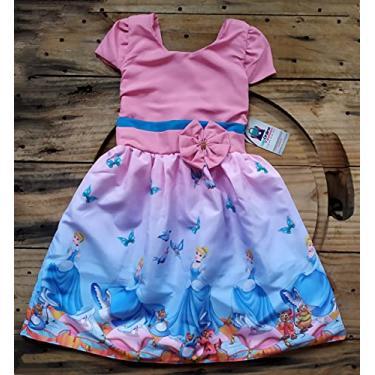 Vestido infantil temático Cinderela/estilo princesinha