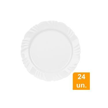 Conjunto De Pratos Opaline Pétala Raso 25,5cm 24 Peças - Duralex