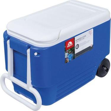 Imagem de Caixa Térmica Igloo 900702 Wheelie Cool 36 Litros Azul Com Rodinhas