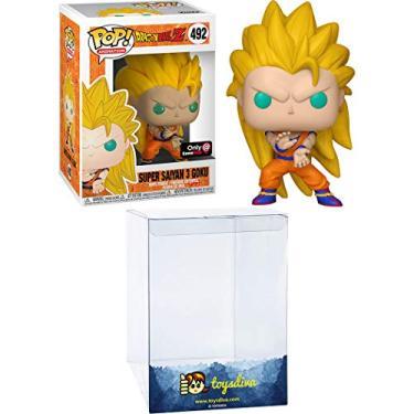 Pop 492 Goku SSJ3 Super Saiyan Dragon Ball Exclusive, Funko, Multicolorido, Pequeno