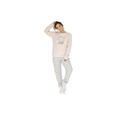 Pijama feminino Plush Gata