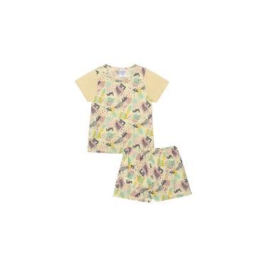 Conjunto Pijama Infantil Aloha Amarelo Sapekinhas - SK1006-AM