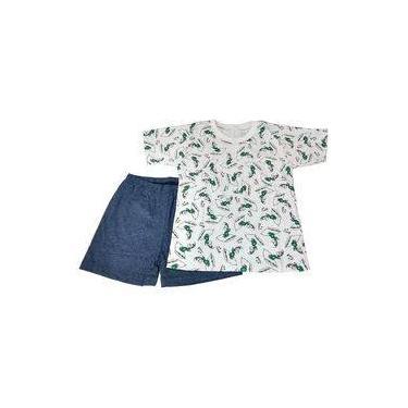 Pijama Infantil Manga Curta Menino Algodão