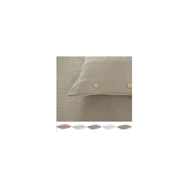 Imagem de Porta Travesseiro Jacquard Medalhão 100% Algodão Buddemeyer Com Botões 50 x 70 cm