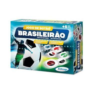 Imagem de Jogo De Botão Infantil Brasileirão C/4 Times - Xalingo