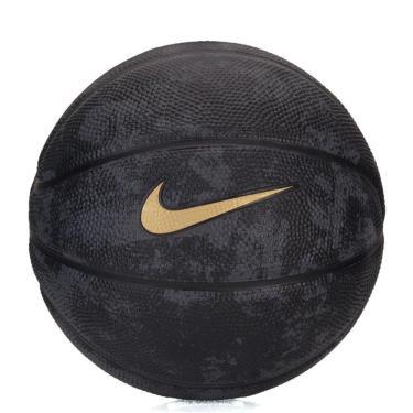 Mini Bola Basquete Nike Lebron T3 BB0623-028, Cor: Preto/Dourado, Tamanho: 3