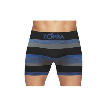 Cueca Boxer Zorba Seamless Listras New S/ Cost Alg Preta
