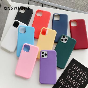 Candy Color Shockproof Phone Cases For iPhone 12 Mini 11 Pro Max X XR XS Max 8 7 Plus 6 6s SE 2020