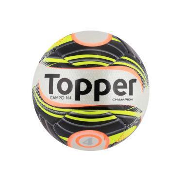 Bola de Futebol de Campo Topper Champion N4 - BRANCO PRETO Topper 1dd6c730b0a66