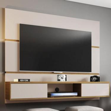 Painel Para Tv 65 Polegadas 2 Portas âmbar Off White/cinamomo - Móveis