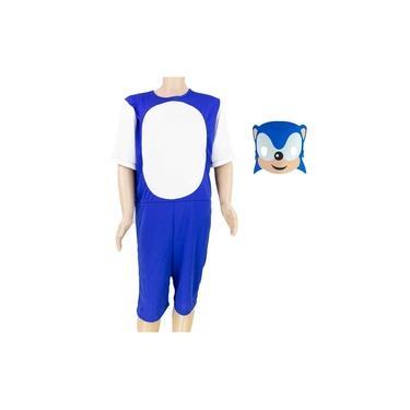 Imagem de Fantasia Sonic Infantil Curta Com Máscara