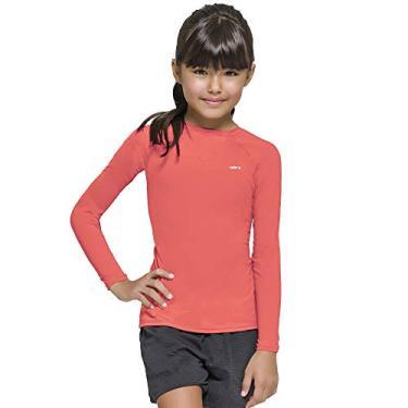 Camisa Infantil Proteção Solar Uv Fps50+ Manga Longa Selene (2, Salmão)