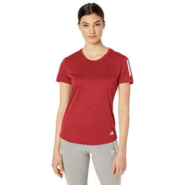 Adidas Camiseta de Corrida Feminina Own The Run, Active Maroon, Small